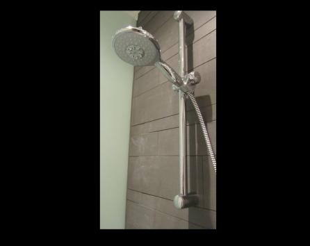 completely new shower